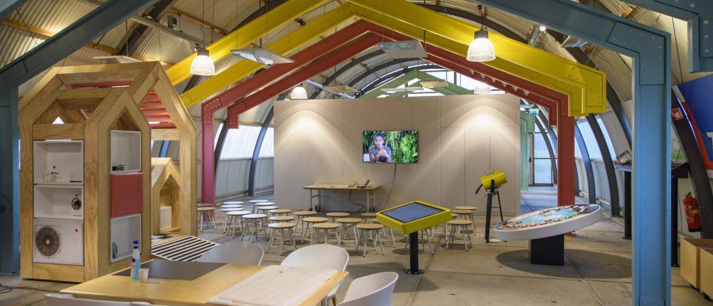 het interieur van het Eneco Windlab in de Romneyloods